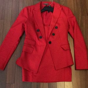 Size 0 express jacket with NWT size 0 skirt